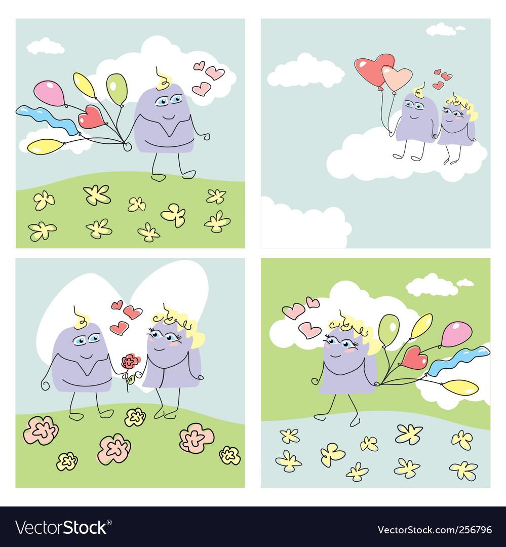 funny valentine. Set Of Funny Valentine Cards
