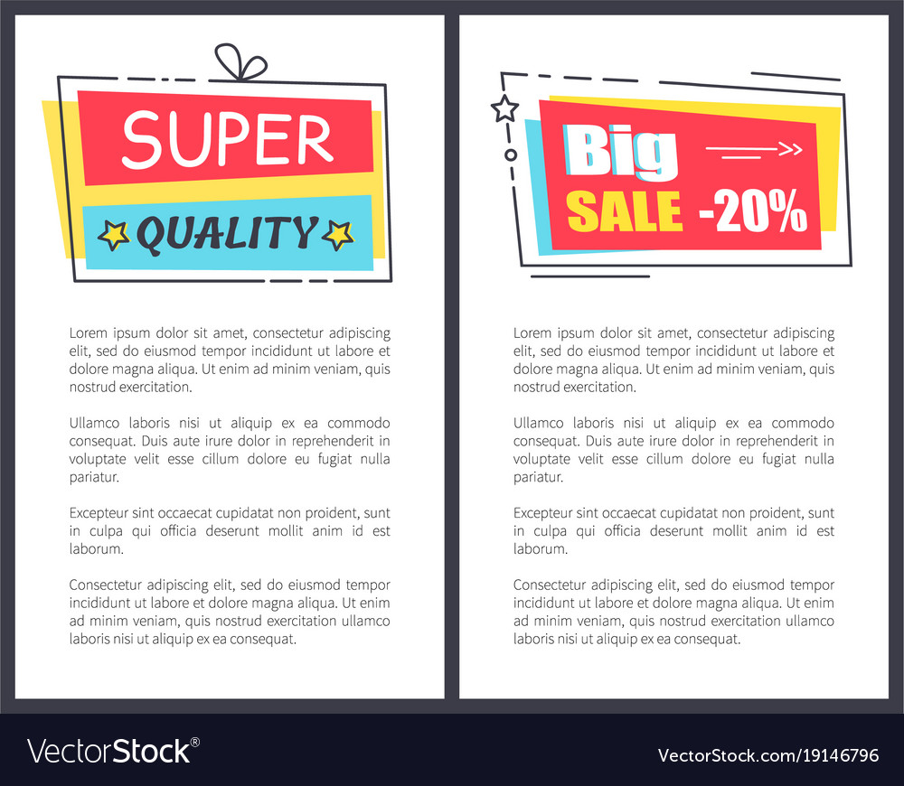 Sticker Frames On Poster Text Vector Image