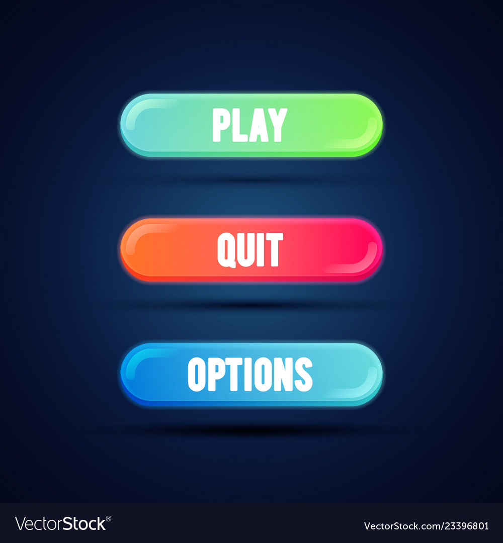 Flat gradient coloful button for mobile web game
