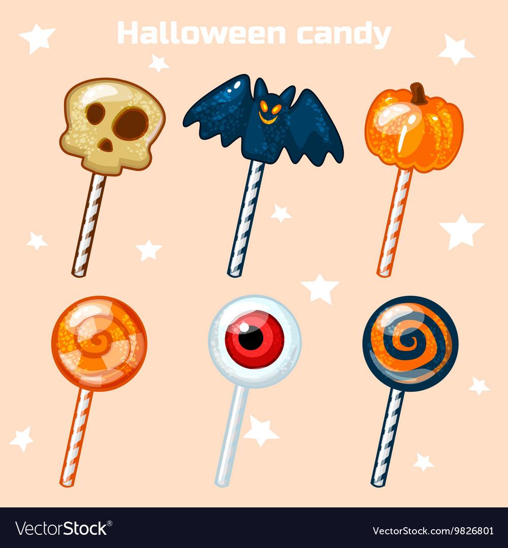 Halloween lollipops candy