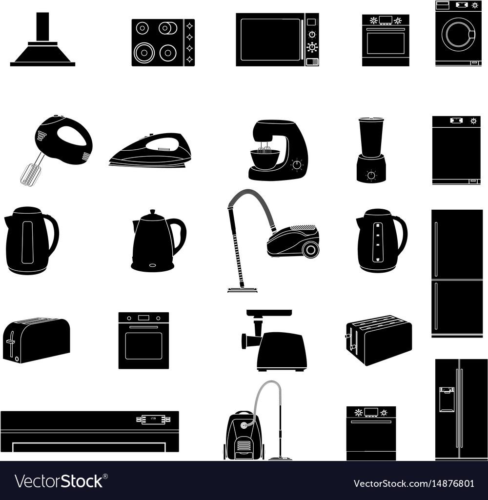 Household icon home appliances icon