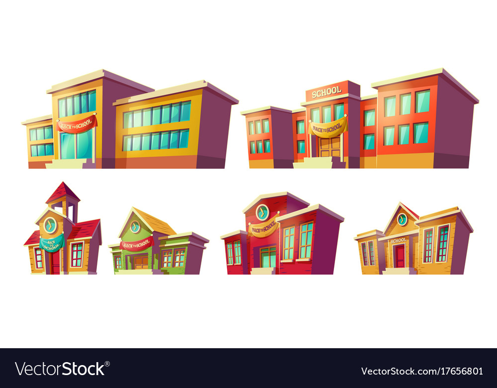 Set of cartoon cartoon of vector image