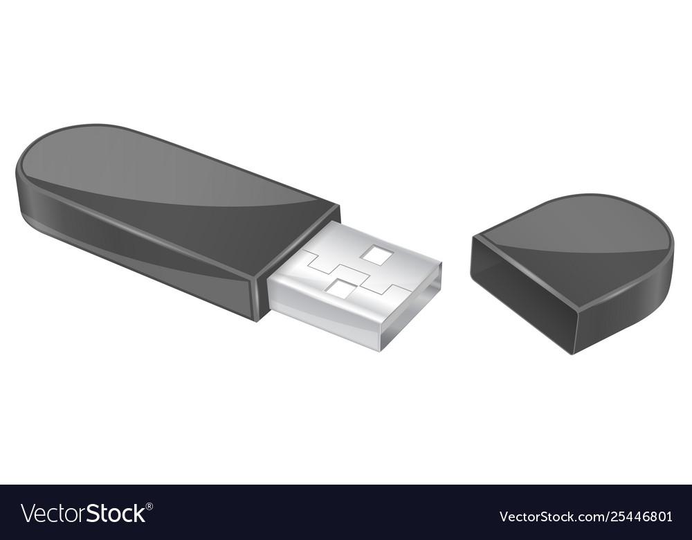 Usb flash drive with cap black memory stick