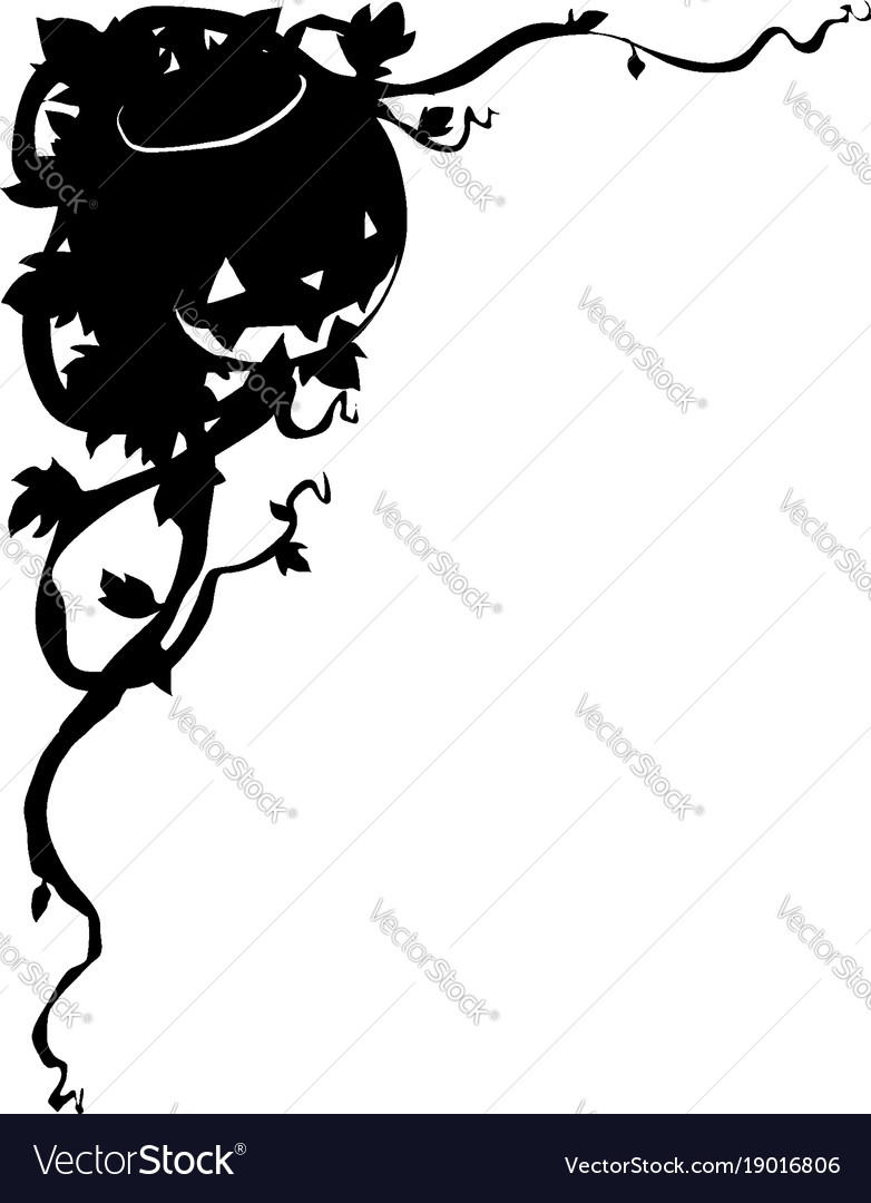 Jack-o-lantern corner decorative border for