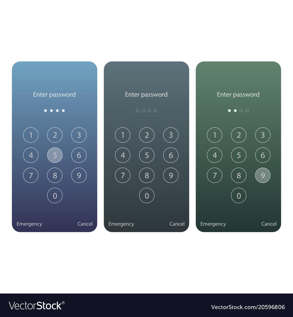 Mobile phone screen lock