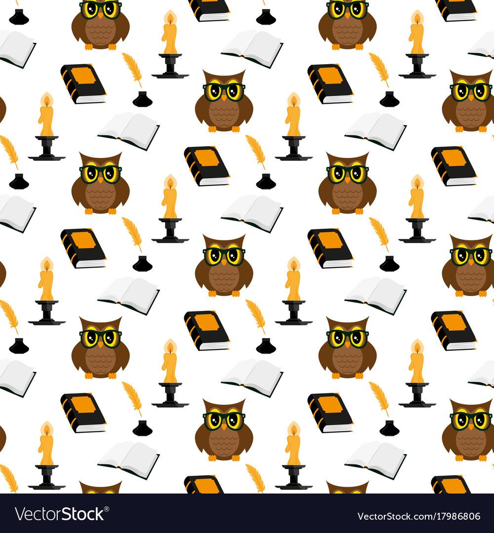 Owl scientist pattern