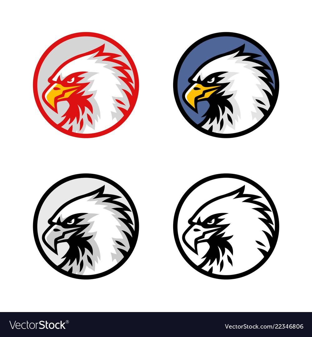 Set eagle head logo design sign icon