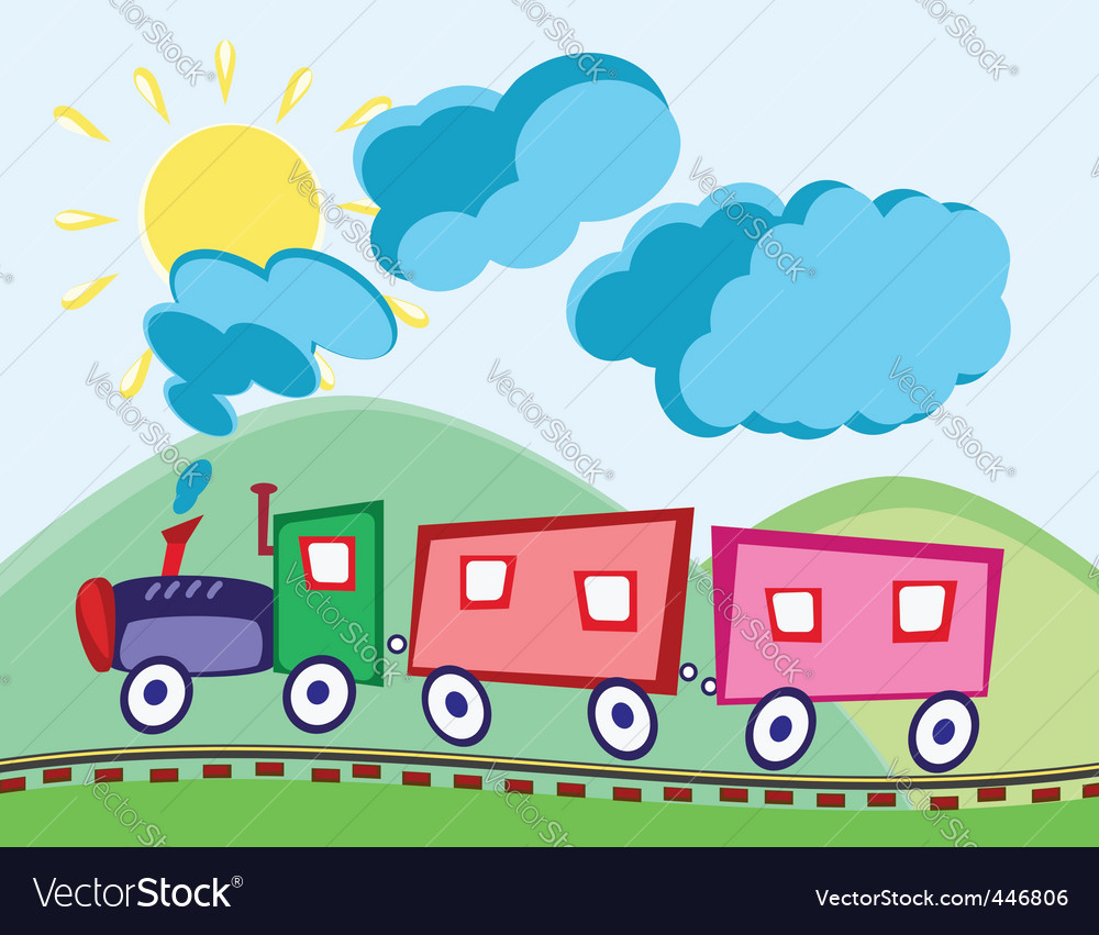 Steam locomotive and waggons