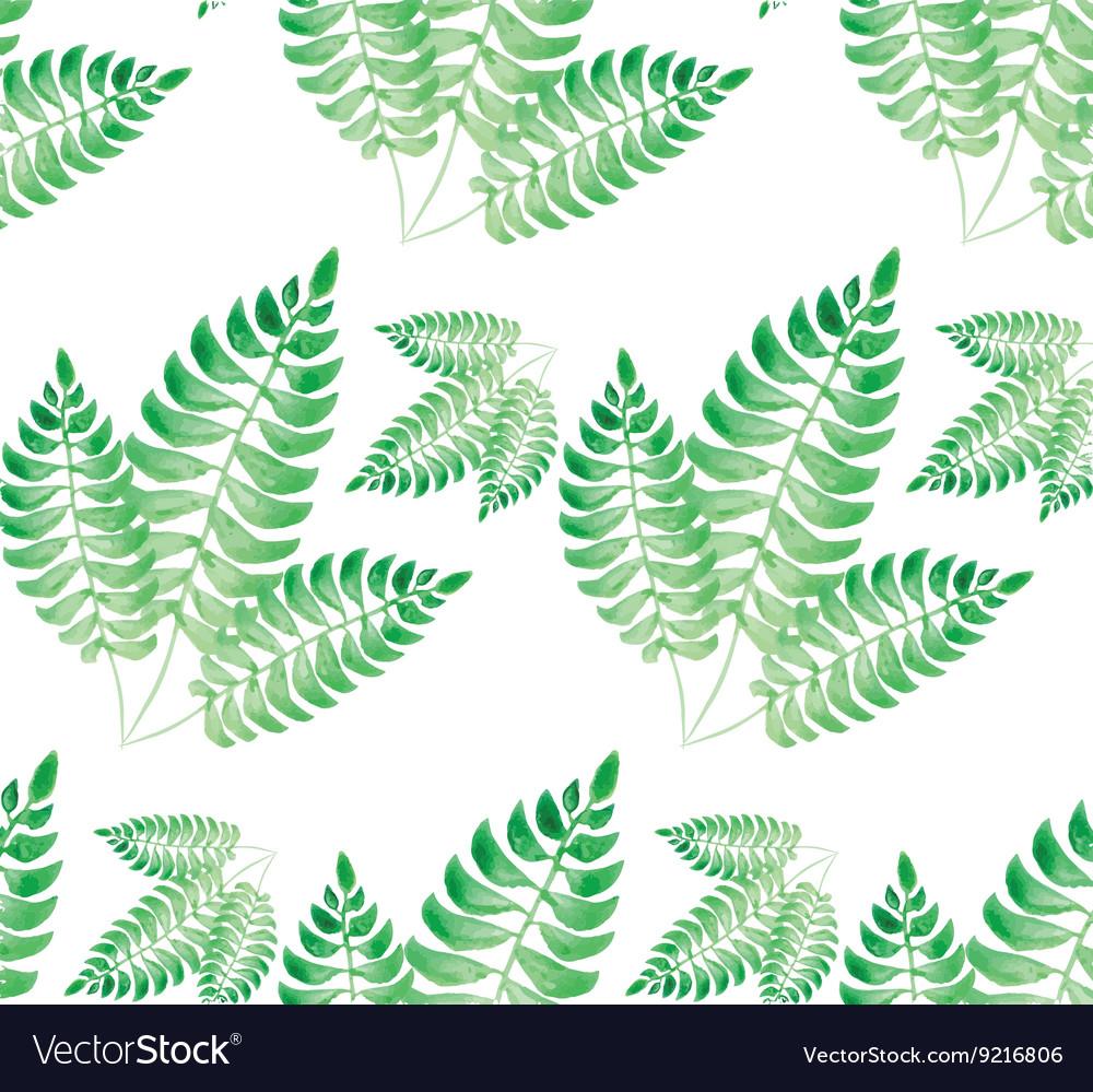 Watercolor green leaf pattern
