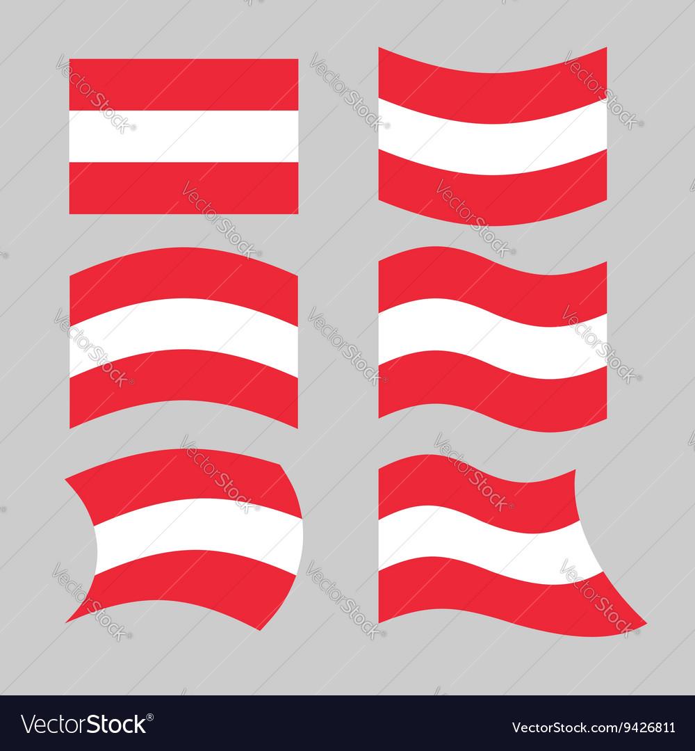 Austria flag Set of flags o Austrian Republic in