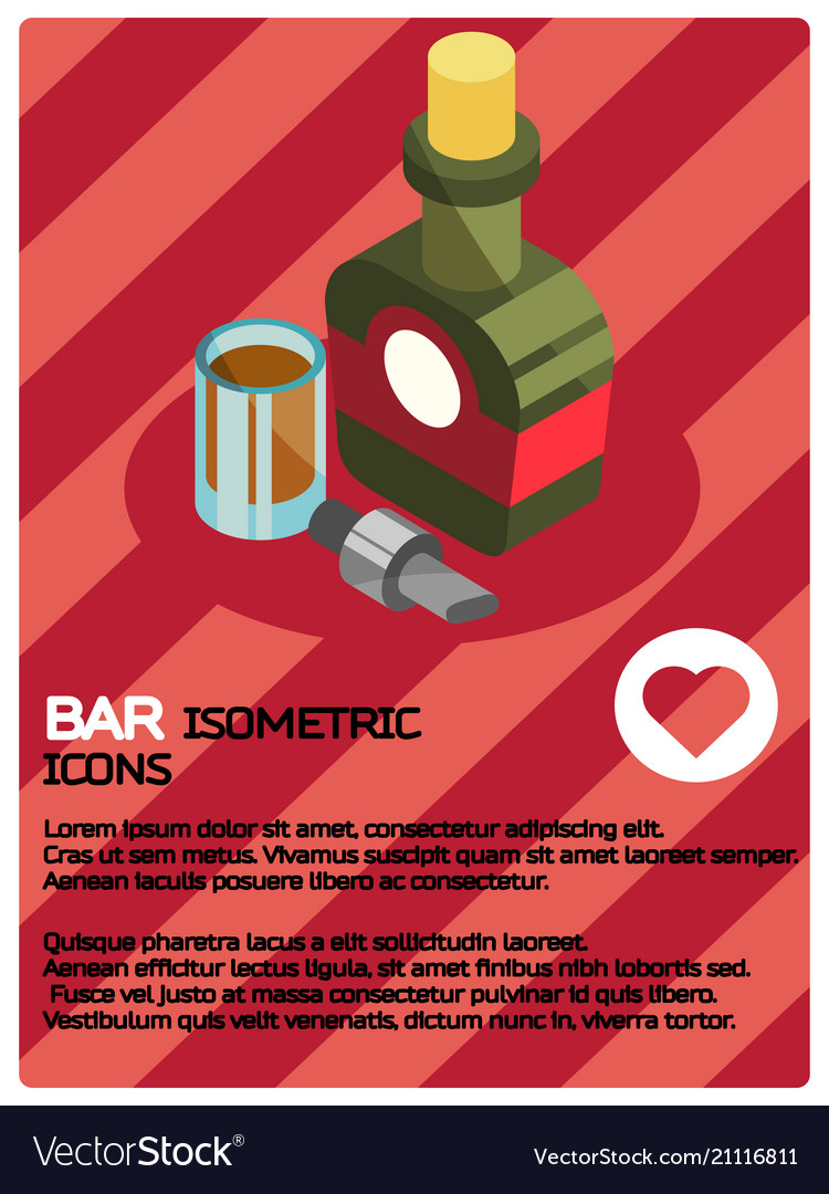 Bar color isometric poster