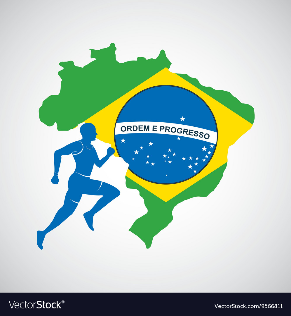 Brazil And The Olympic Sports Isolated Icon Design