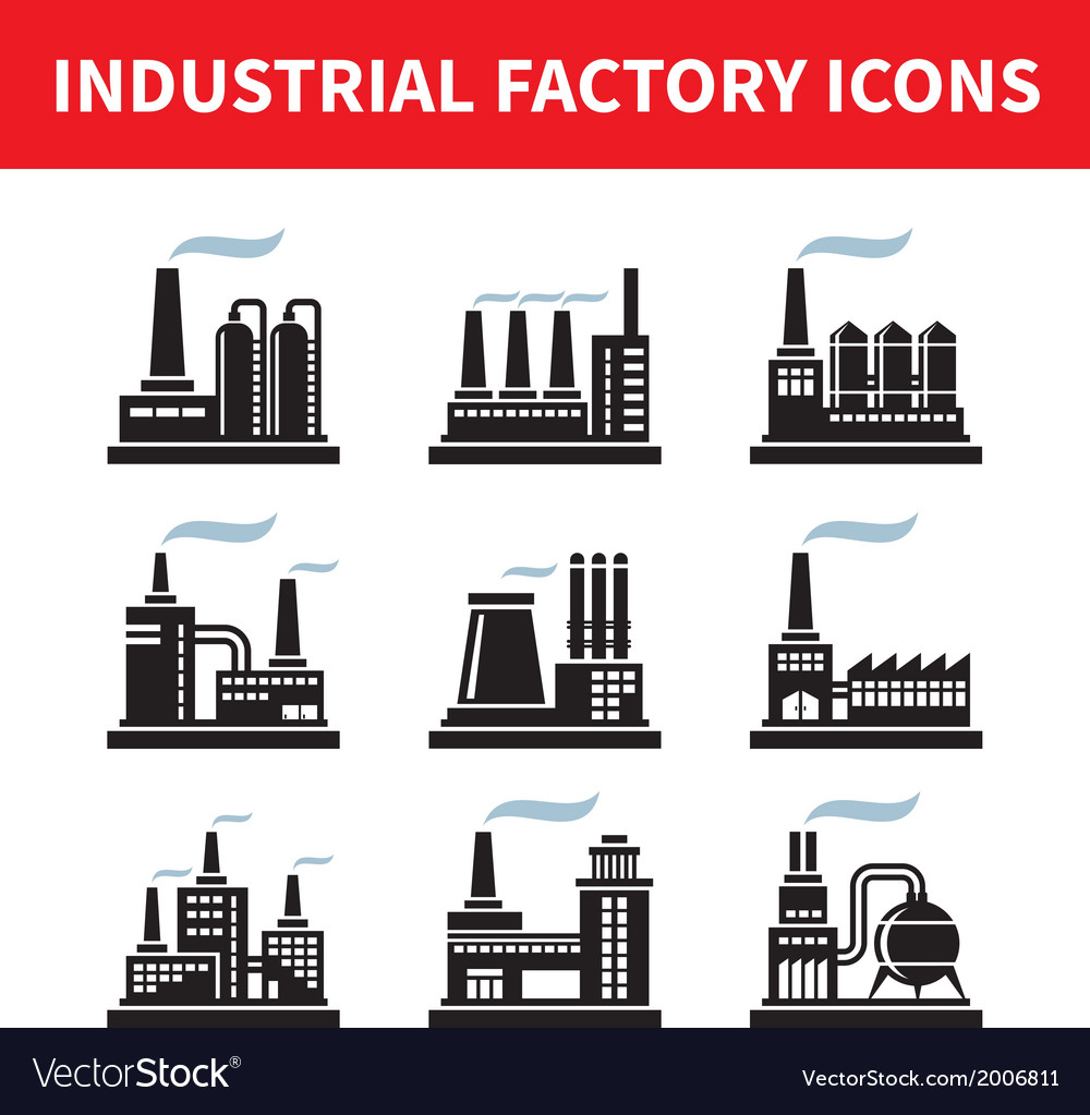 Industrial factory icons - set