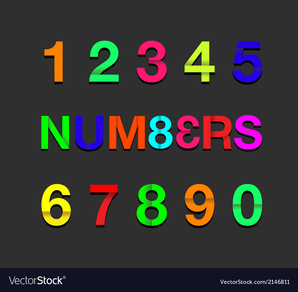 Paper numbers colour