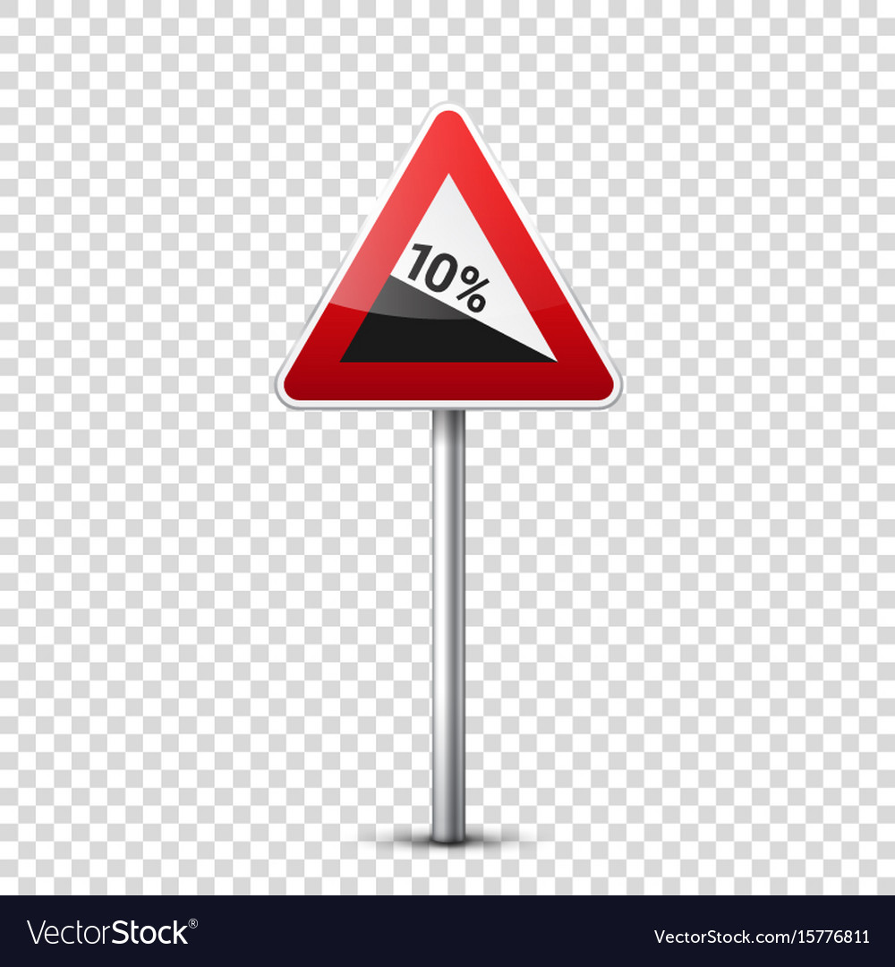 Road red signs collection isolated on transparent