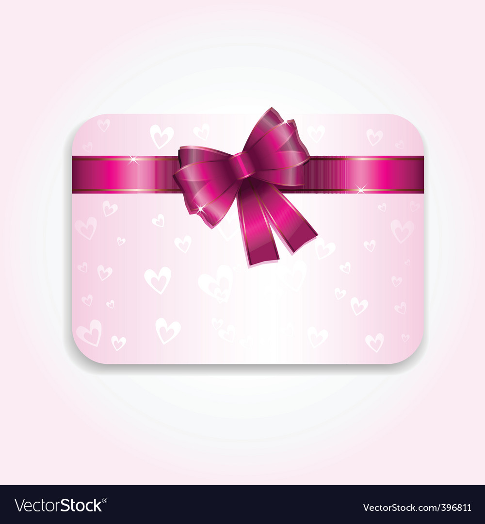Valentines Day Gift Card Royalty Free Vector Image