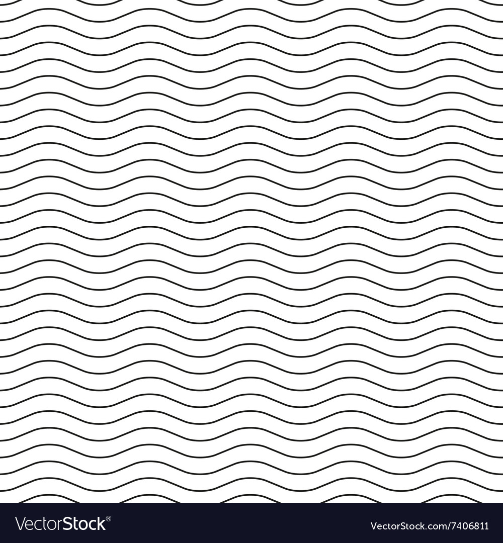 Wavy line black-white seamless pattern