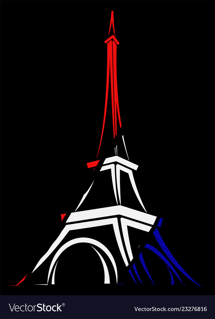 Abstract logo or sign for france paris and eiffel