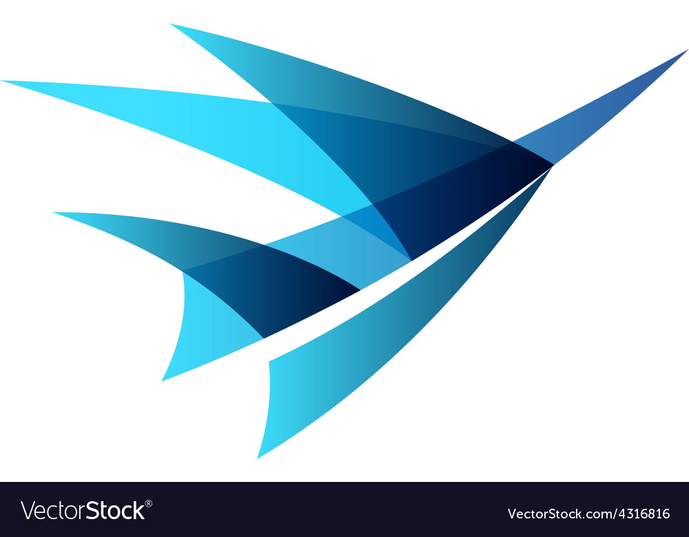 airplane abstract logo royalty free vector image
