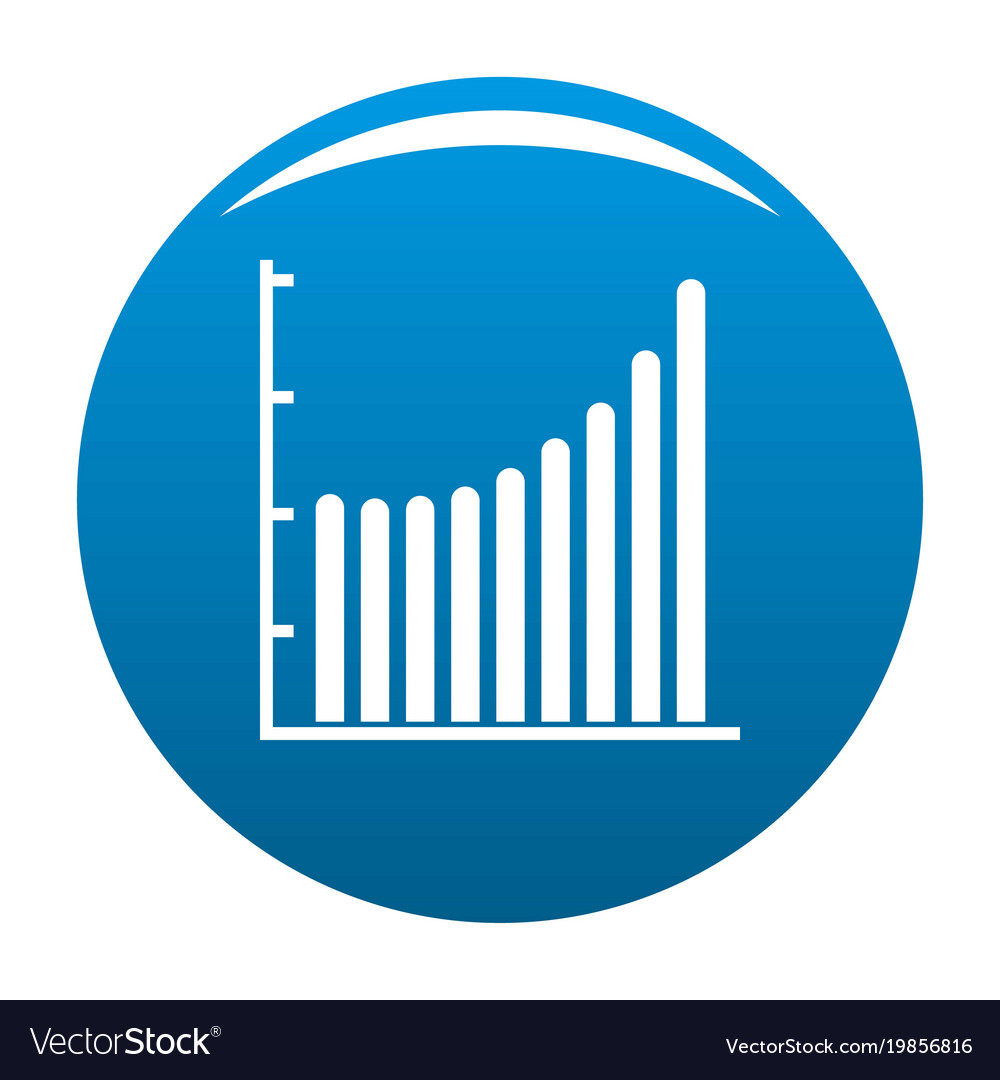business diagram icon blue vector image