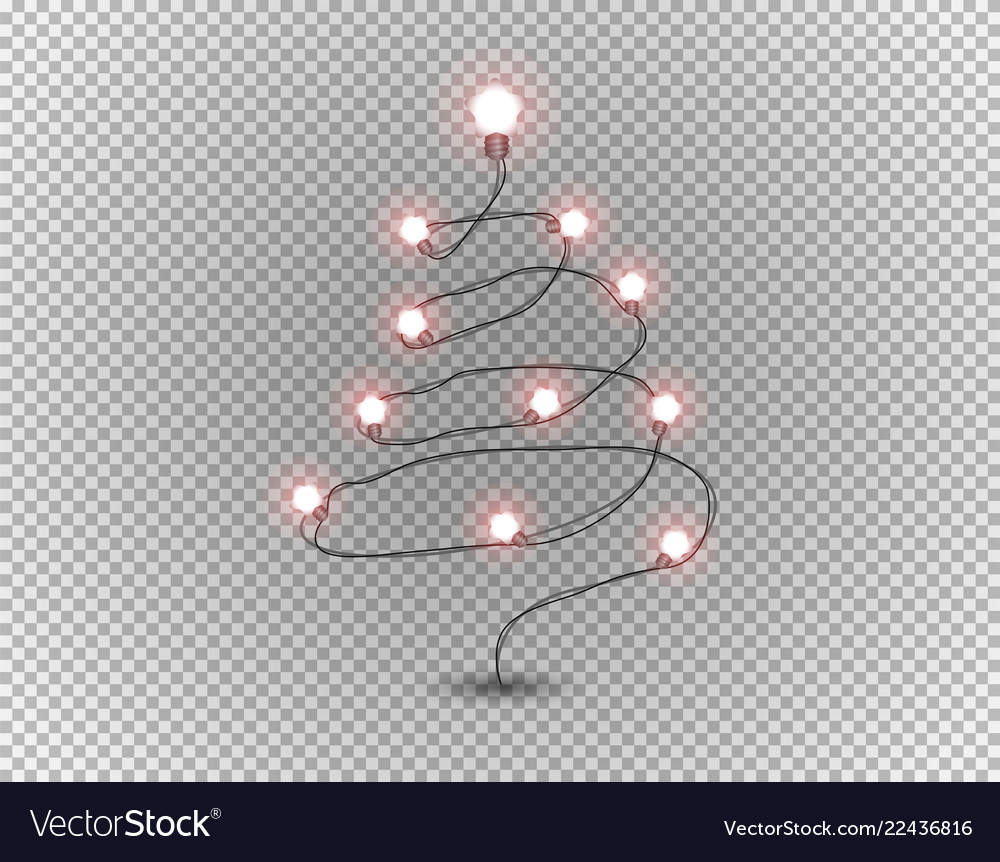 Christmas Tree Transparent Background.Christmas Tree Isolated On Transparent Background