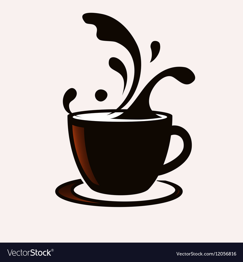 coffee cup with splash royalty free vector image rh vectorstock com cup vector free cup vector logo