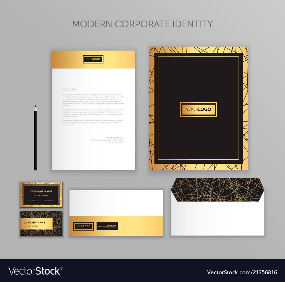 Corporate identity business set modern stationery