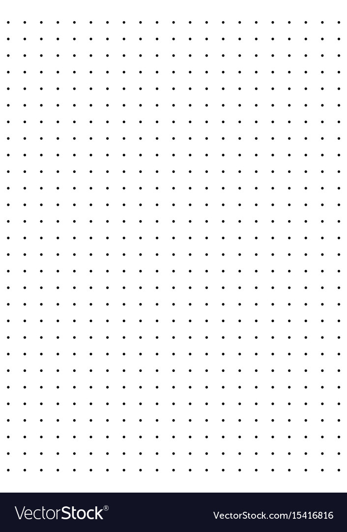 full page centimeter dot paper royalty free vector image