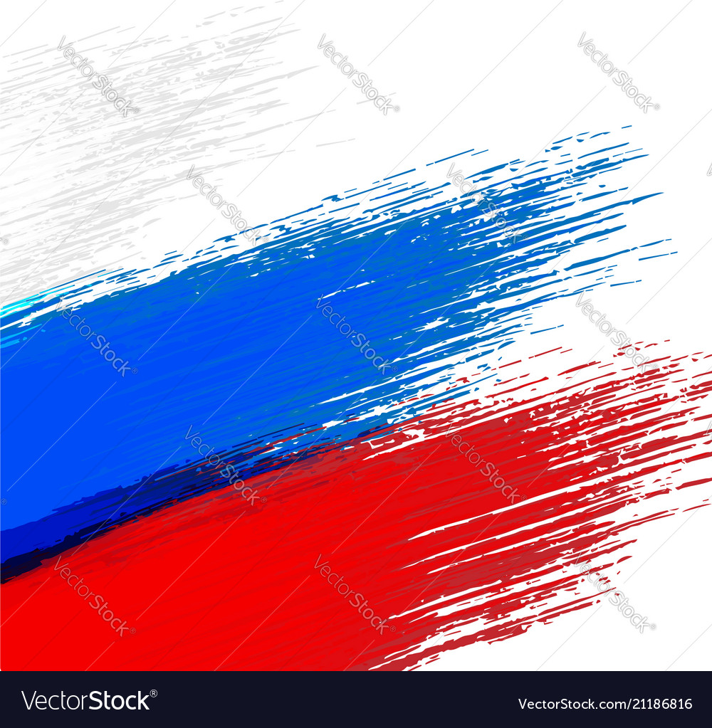 Grunge background in colors of russian flag