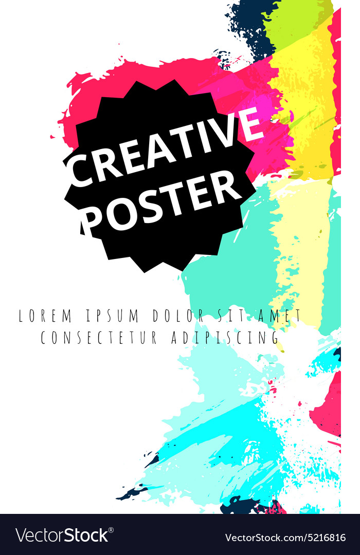 Hand drawn watercolor poster