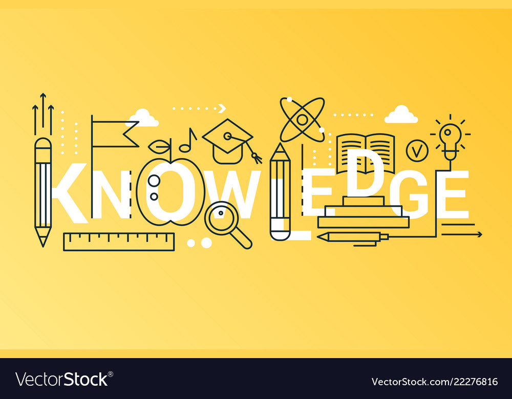 Knowledge 2019 word trendy composition concept