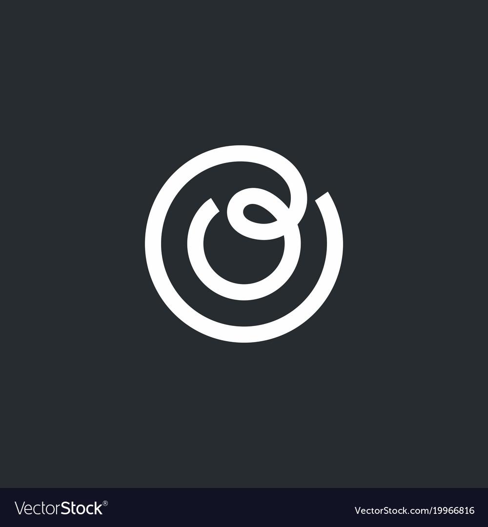Modern professional sign logo letter o