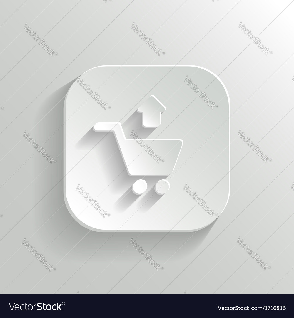 Remove from shopping cart icon - white app button