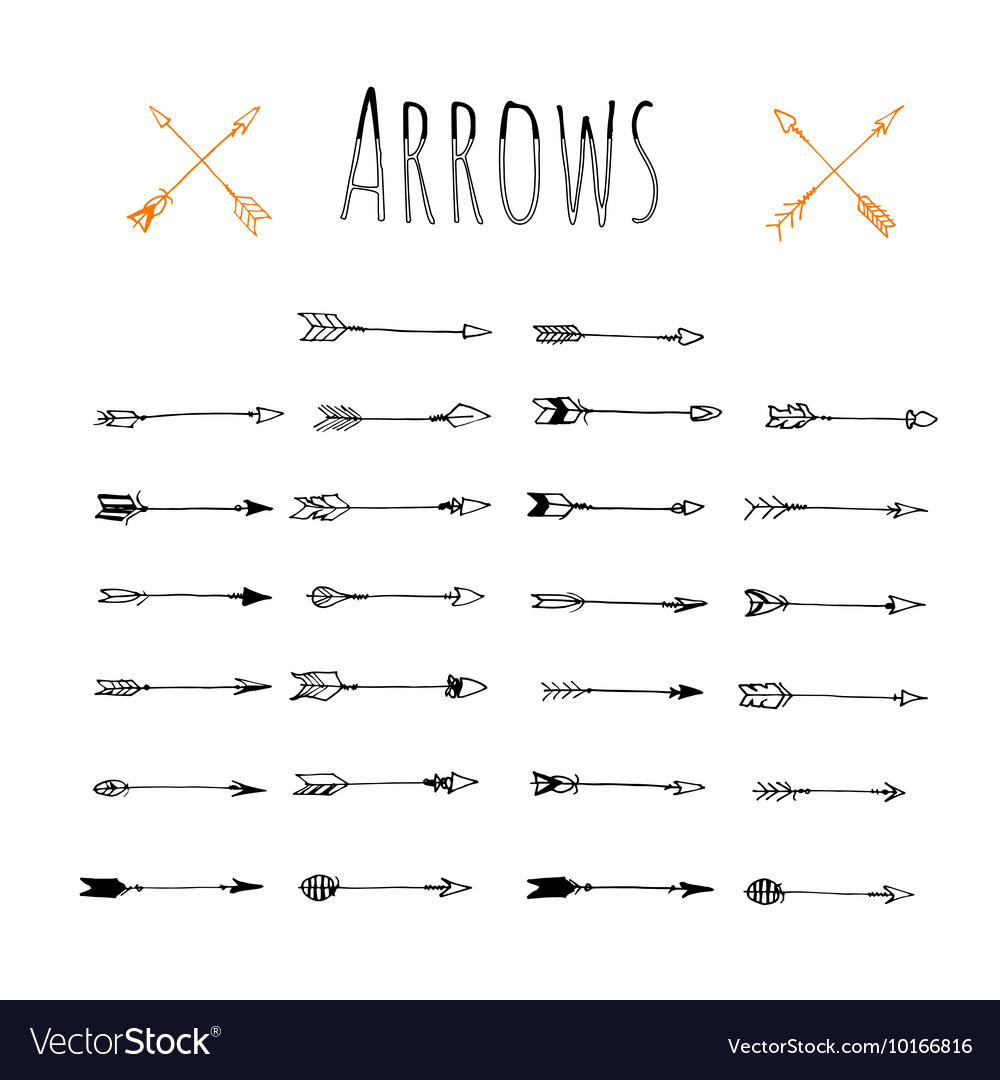 Set of trendy hipster arrows