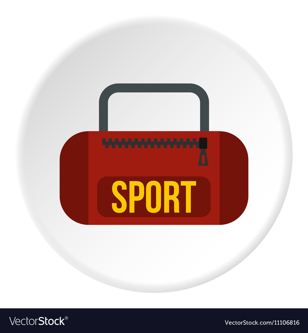 Sports bag icon flat style