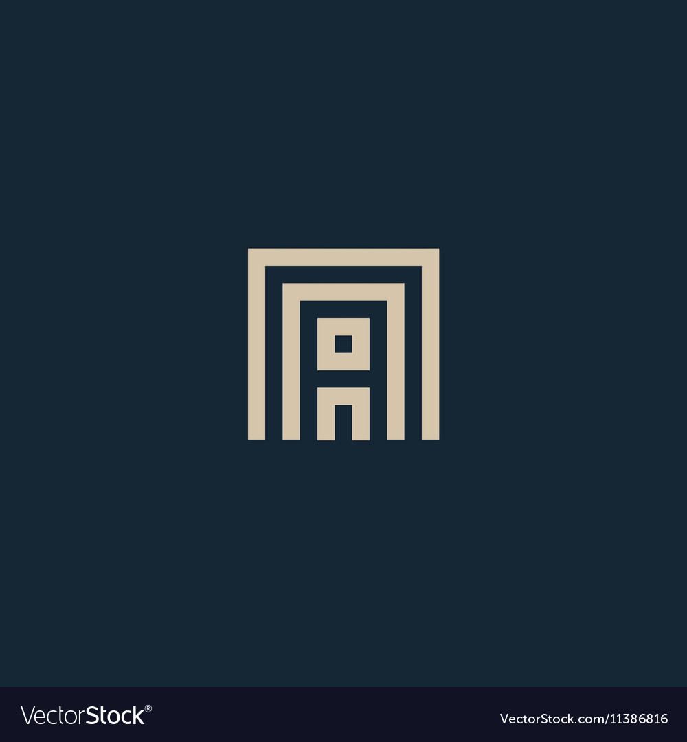 Unusual geometric letter A Architecture vector image