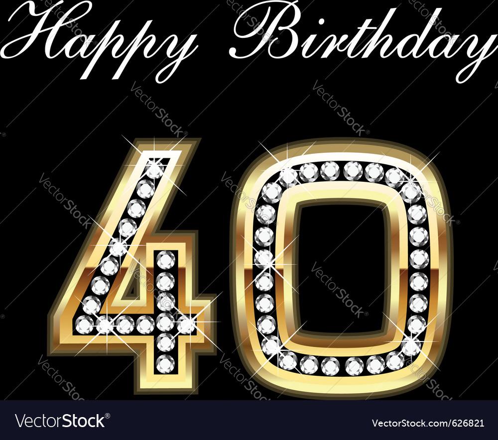 40th happy birthday vector image