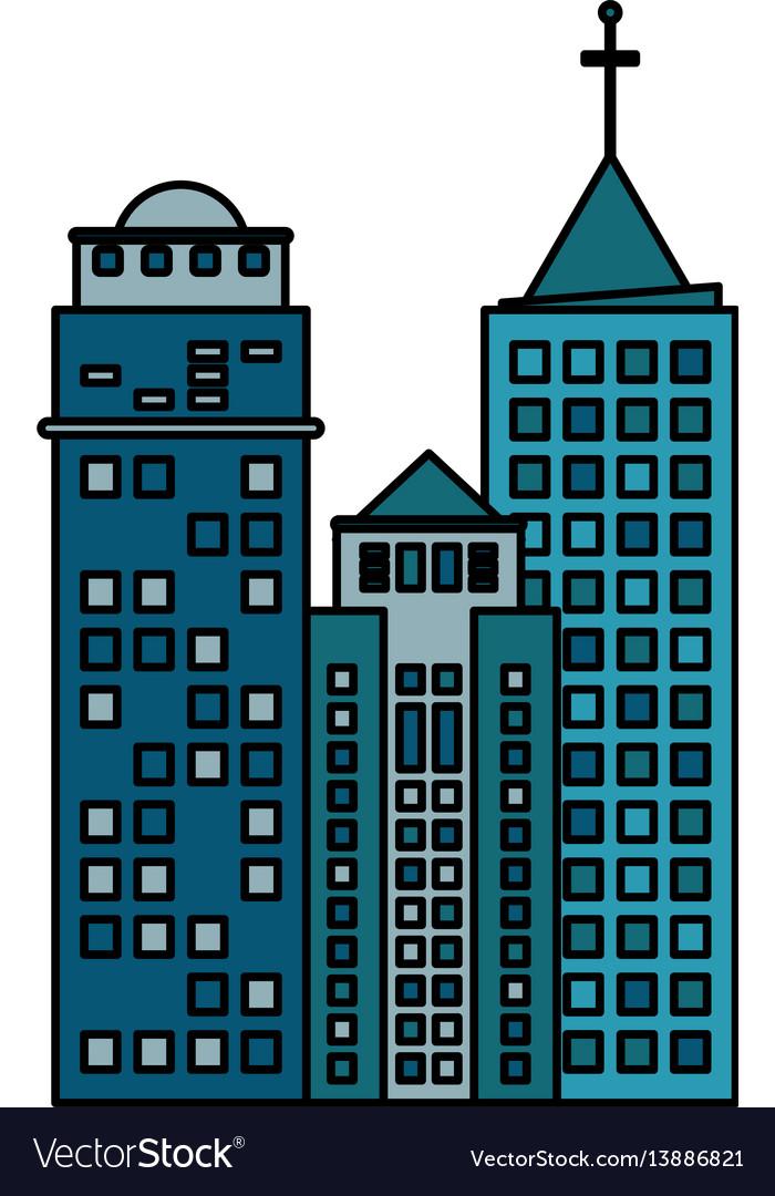 building architecture modern skyscraper royalty free vector rh vectorstock com victor building lansing mi victor building washington dc