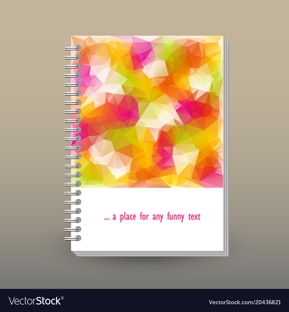 Cover of diary or notebook with ring spiral