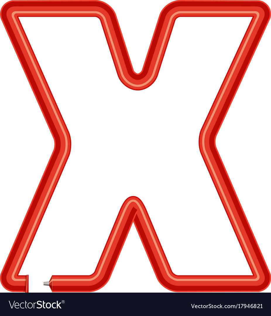 Letter x plastic tube icon cartoon style