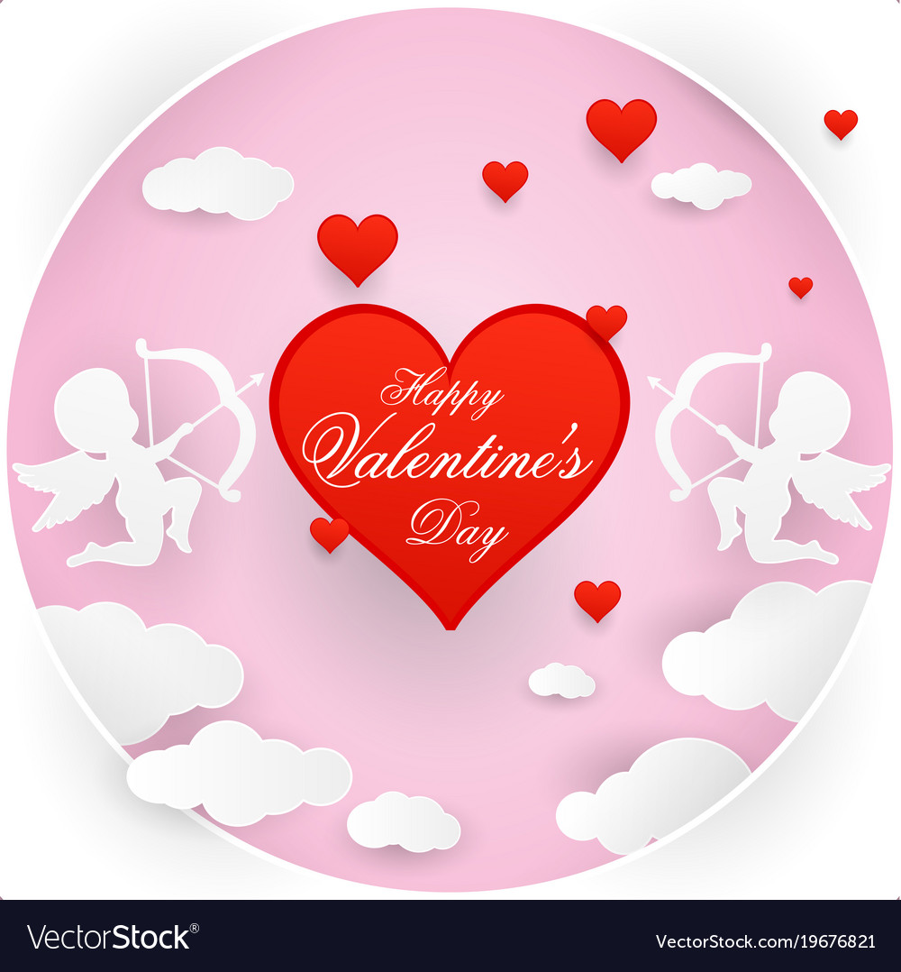 Love And Valentine Day Origami Royalty Free Vector Image