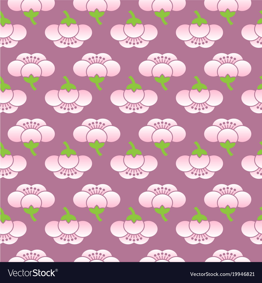 Seamless sakura flower pattern