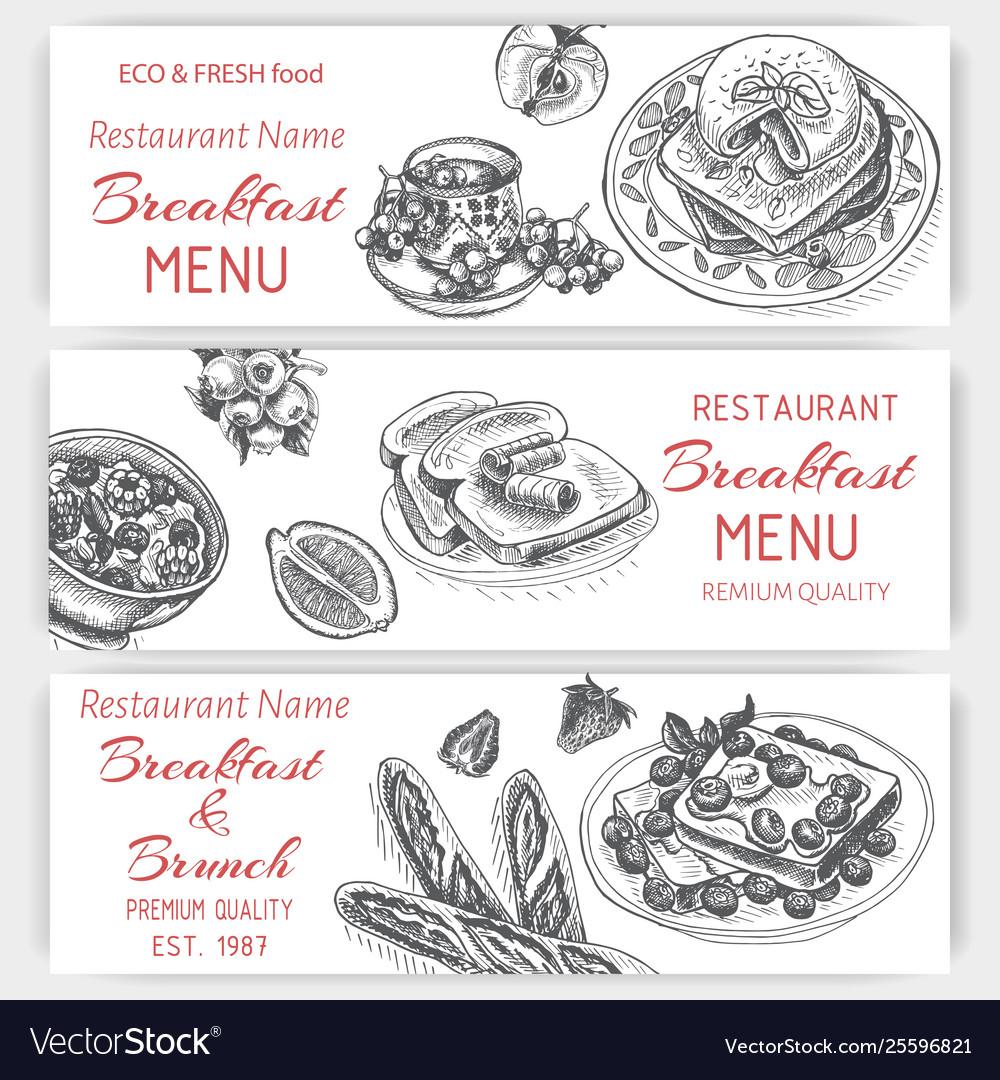 Sketch - breakfast card menu