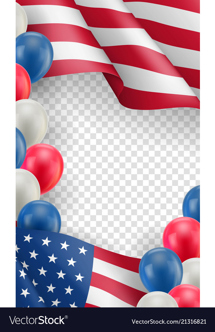 usa country patriotic horizontal flyer royalty free vector