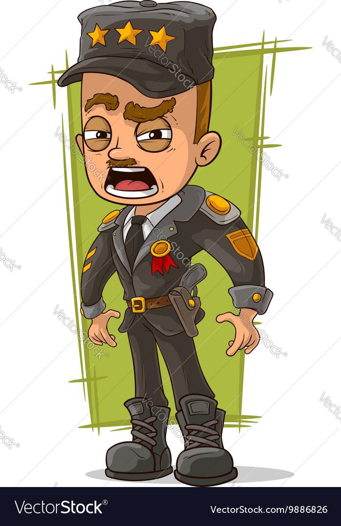Cartoon army general in uniform vector image