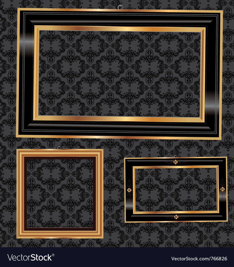 Awesome Black And Gold Picture Frames
