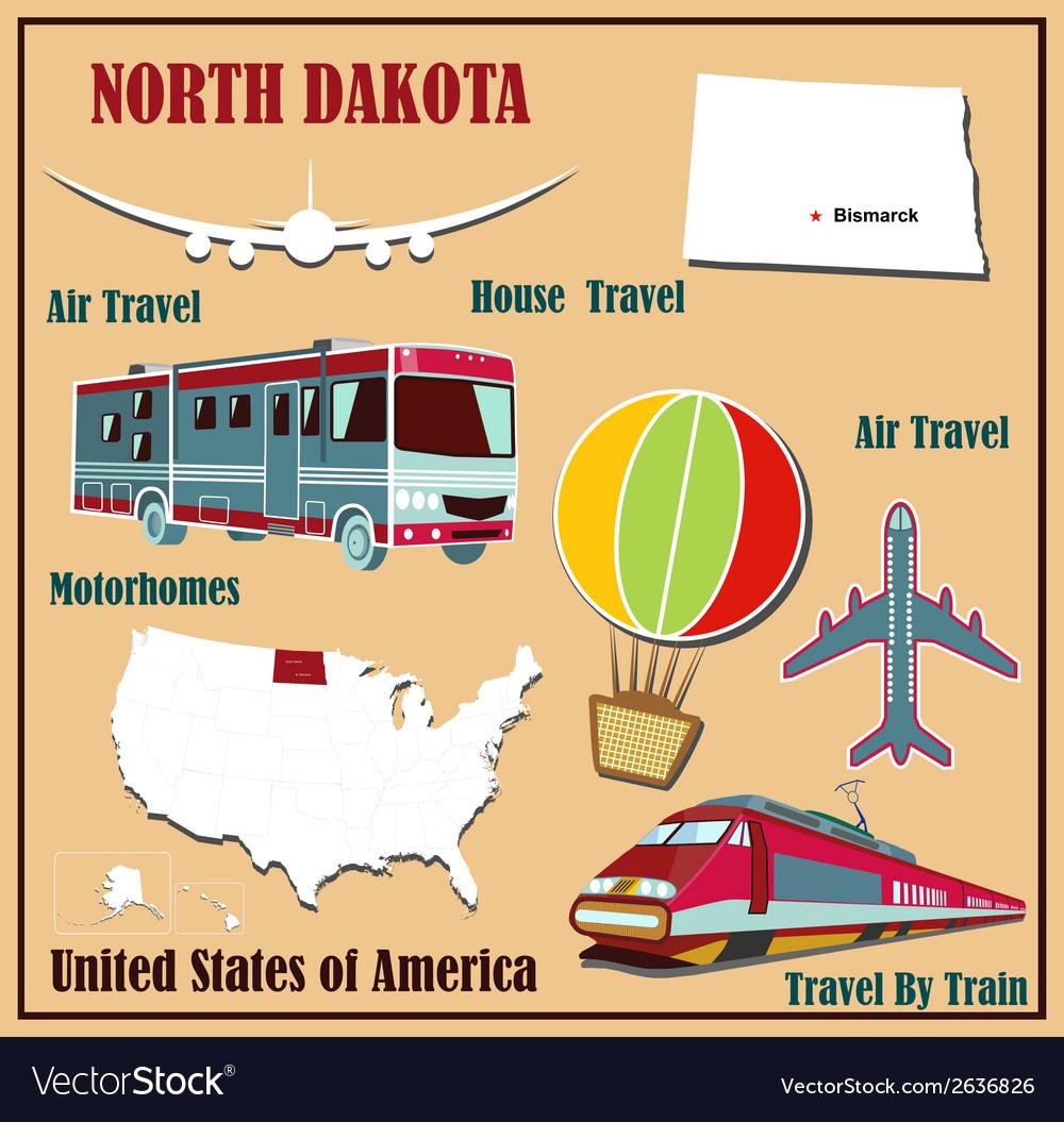 Flat map of North Dakota