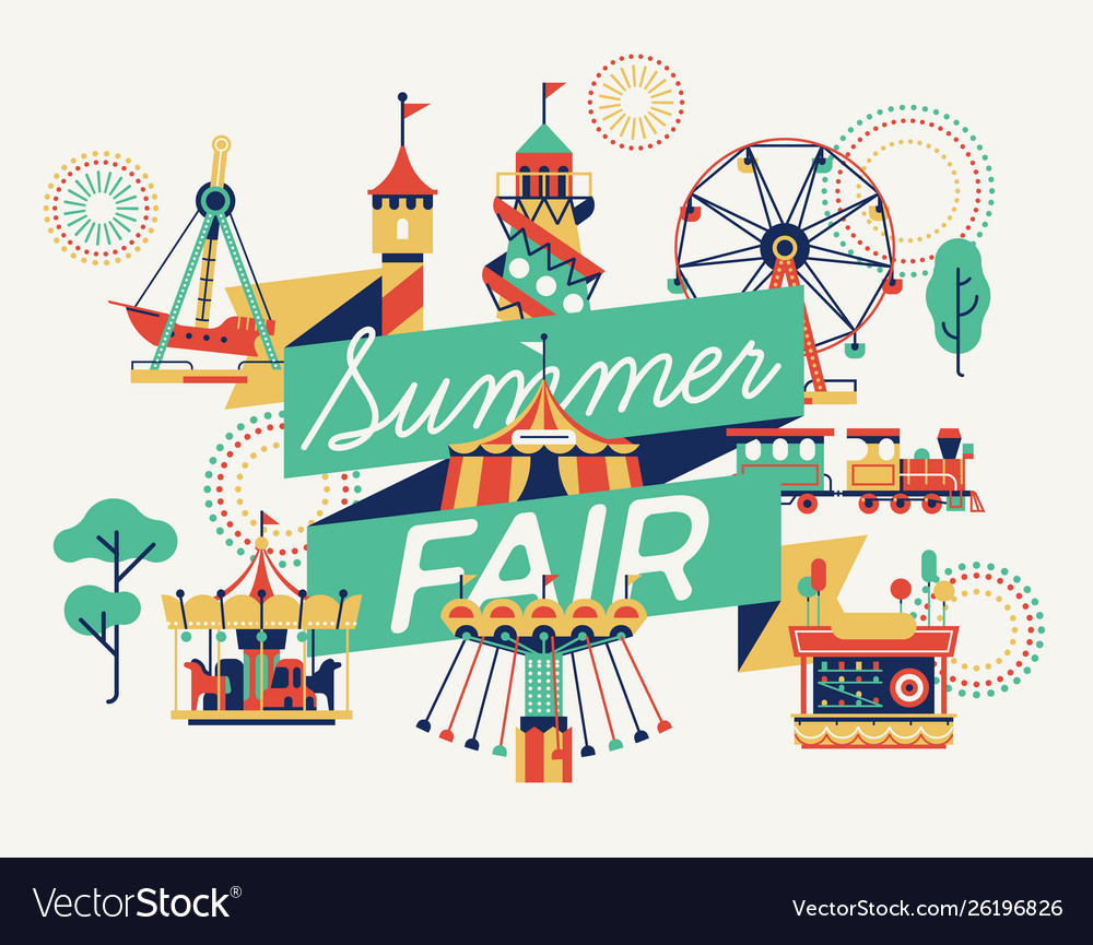 Summer fair banner or poster template