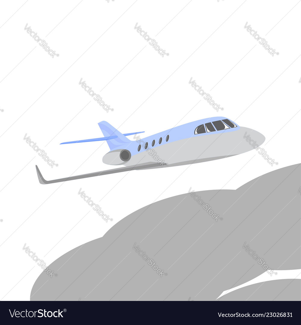 Blue Private Jet Plane Vector Image