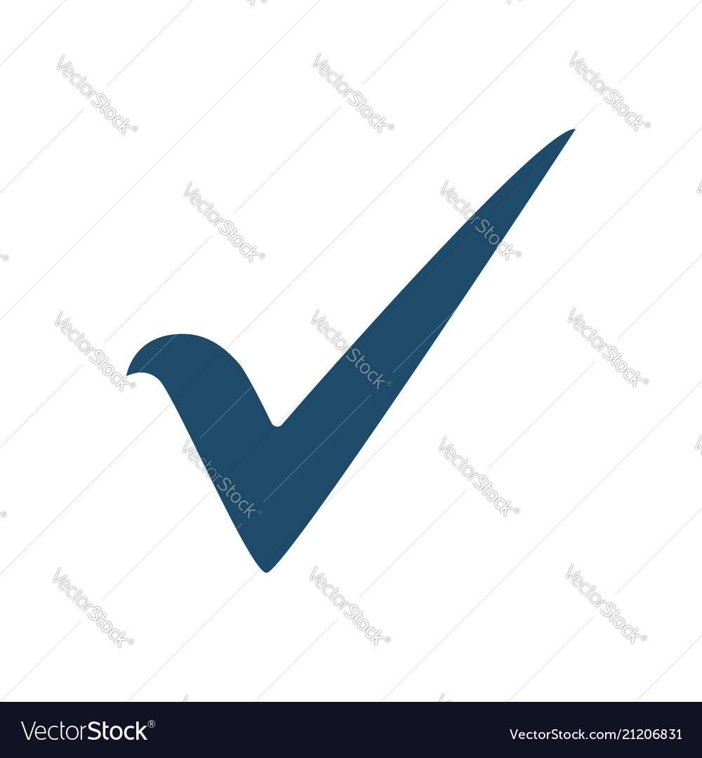 Check mark flat icon